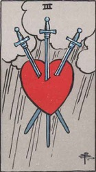 Three of Swords Tarot card meaning and interpretation