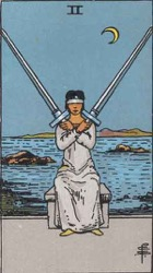 The Two of Swords Tarot card meaning and interpretation
