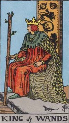 King of Wands, Rods or Batons, Tarot card meaning and interpretation