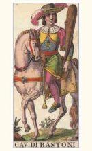 Marseilles Knight of Wands Tarot card meaning and interpretation