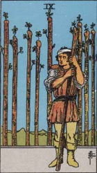 Nine of Wands, Rods or Batons, Tarot card meaning and interpretation