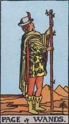 Page of Wands, Rods or Batons, Tarot card meaning and interpretation