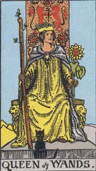 Queen of Wands, or Queen of Rods, Tarot card meaning and interpretation