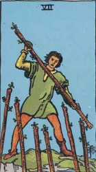 Seven of Wands Card Meaning
