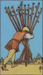 The Ten of Wands Card